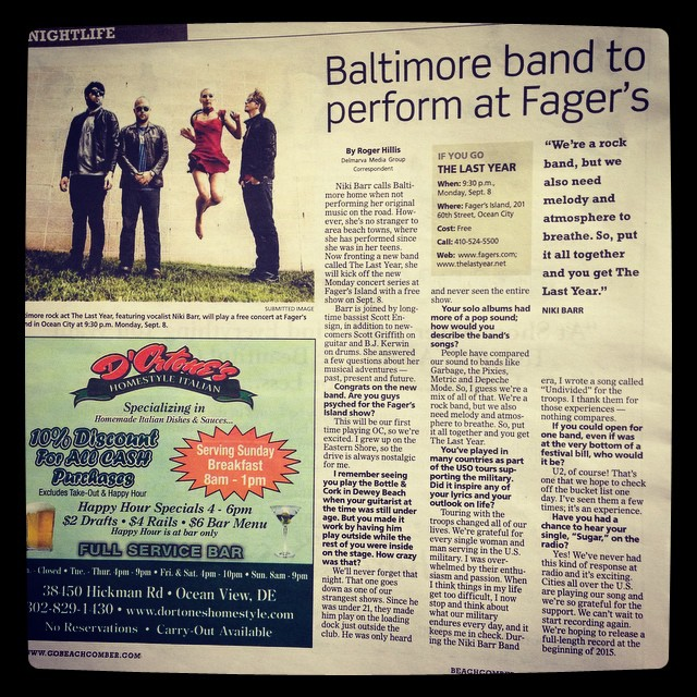 A copy of our article in the @GOBeachcomber. :) thanks, Roger Hillis! #beachcomber #fagersisland #thelastyear