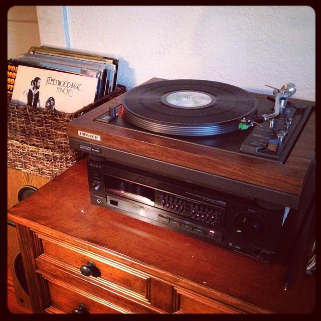 Nice way to start the morning. #fleetwoodmac #vinyl
