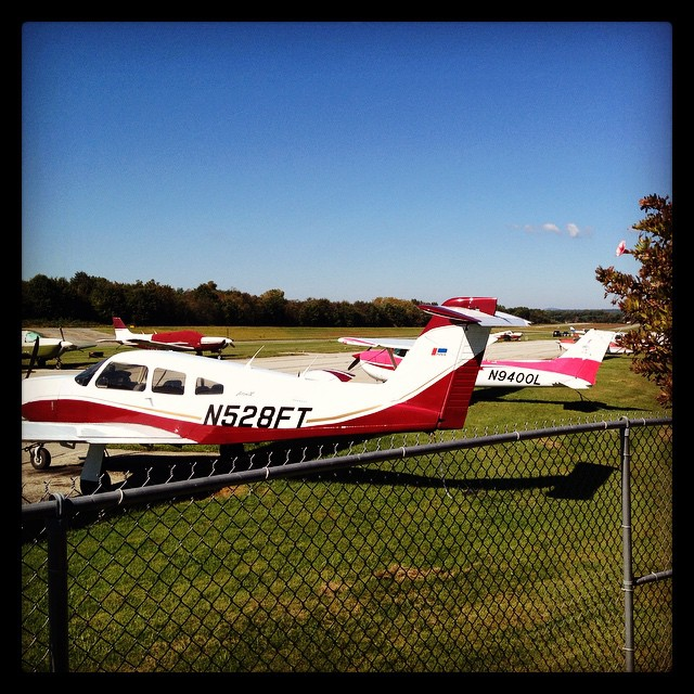What a perfect day for brunch on the patio and airplanes! #airportcafe #planes