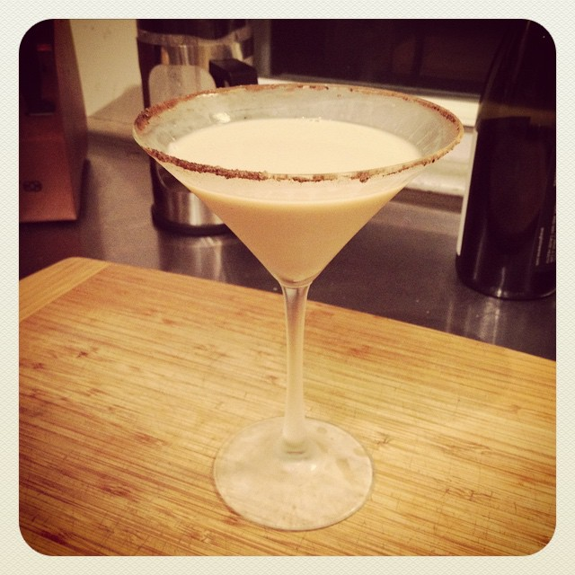 Scott's getting good at these Martinis! #espressomartini
