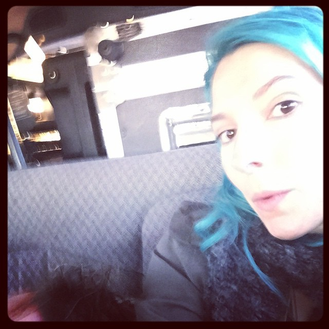 Crammed in the back of the van. Nirvana on the jukebox. #NYCbound #websterhall