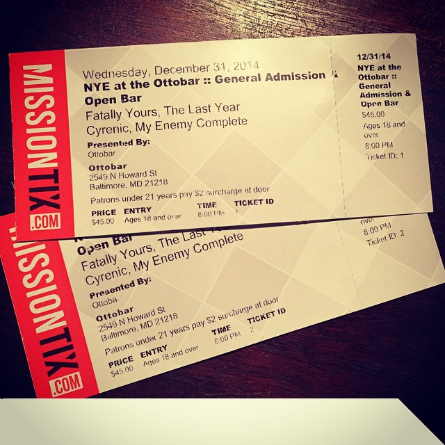 Got two tickets to paradise... and we're giving them away on 98 Rock this Sunday!  Tune in around 9pm to win these NYE Open Bar tix!! @98rock @theottobar