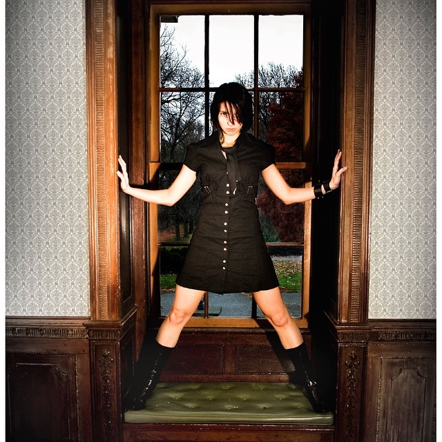 A throw-back shot from Niki's archives. This was shot at a Victorian-style mansion on the eastern shore. @michaelhrizukphotos #tbt #victorian #photoshoot #easternshore #hauntedhouses